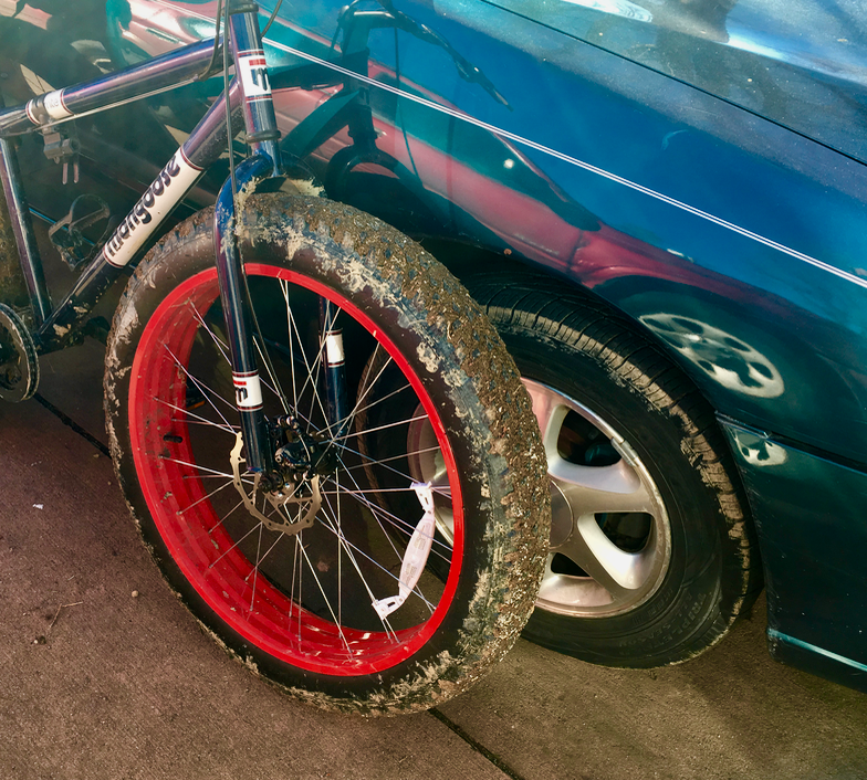 Manhattan Nyc Craigslist: Fat Bike And Little Car
