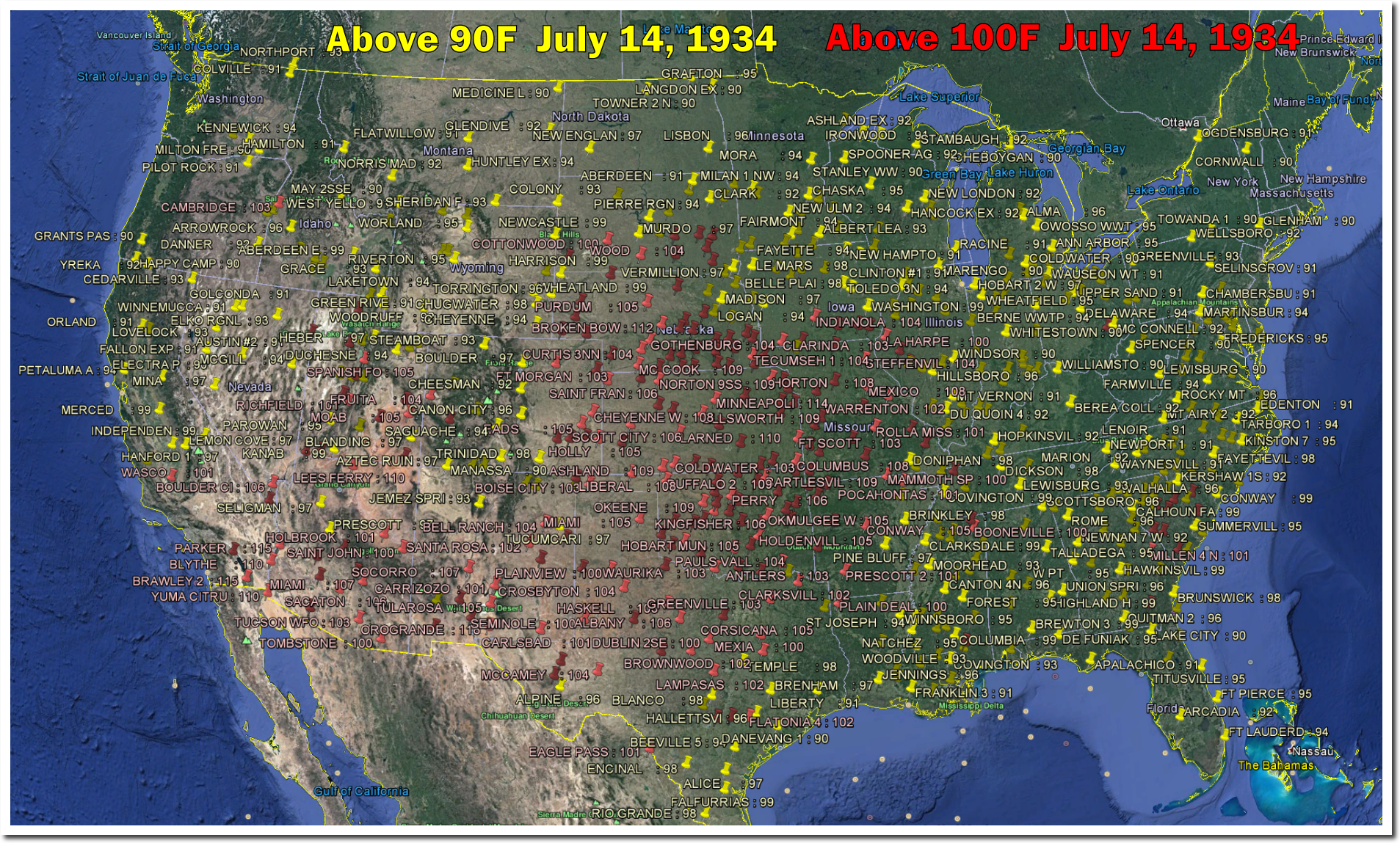 Bastille Day Used To Be An Incredibly Hot Day In The US The - Us weather map july
