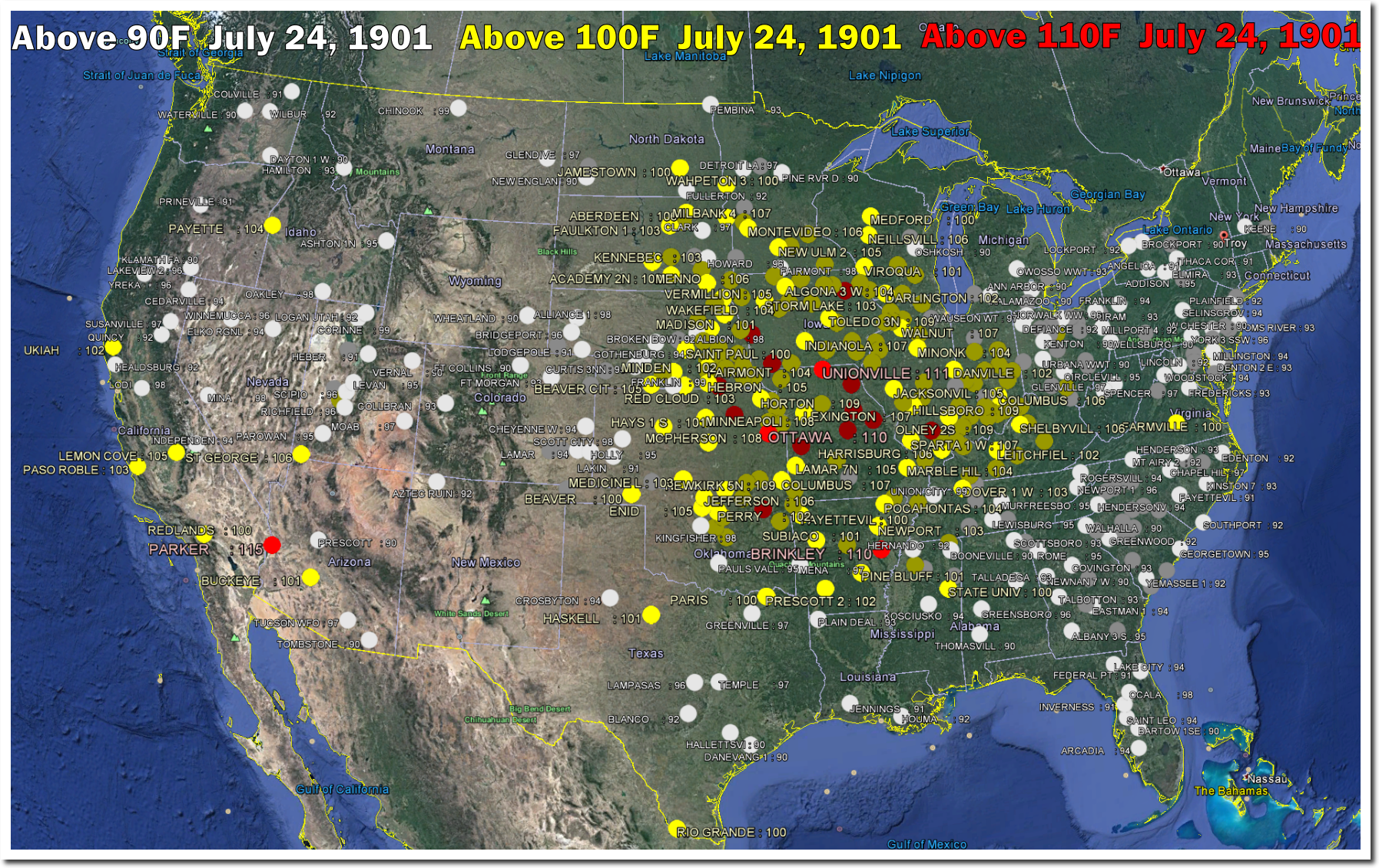 July  Used To Be An Incredibly Hot Day In The US The - Us weather map july