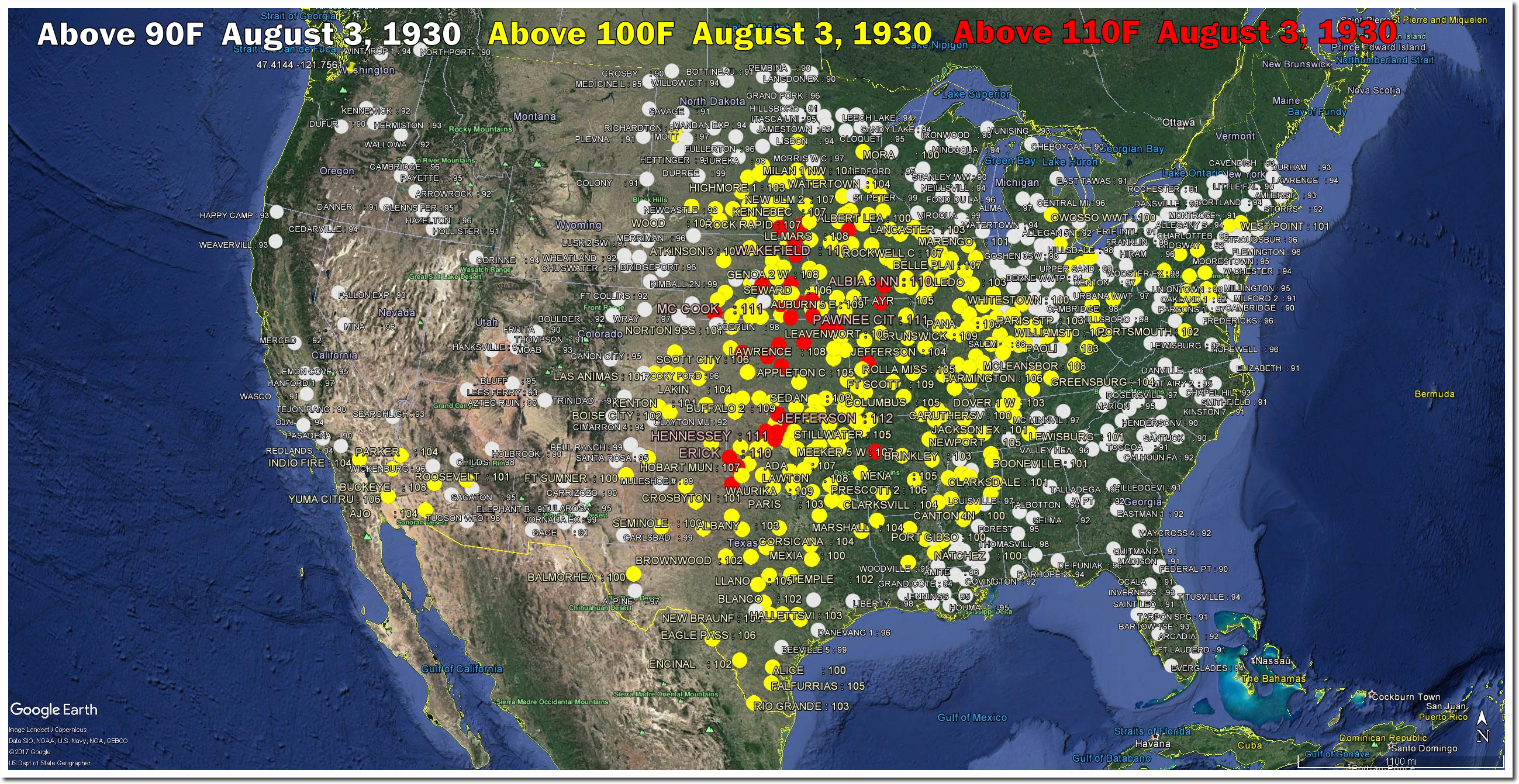 Plummeting August 3 Temperatures In The US The Deplorable Climate