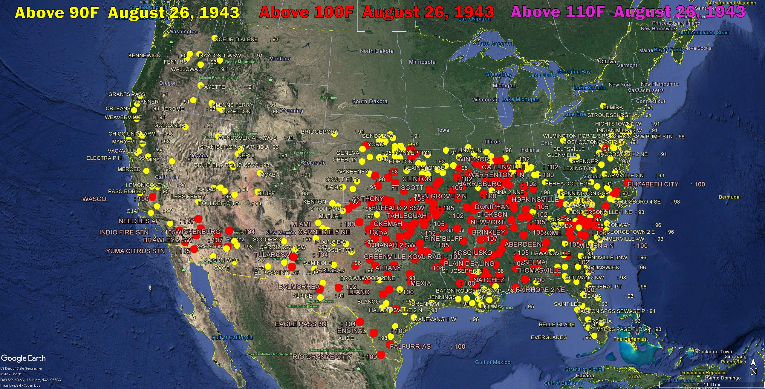 Plummeting August 26 Temperatures In The US The Deplorable Climate