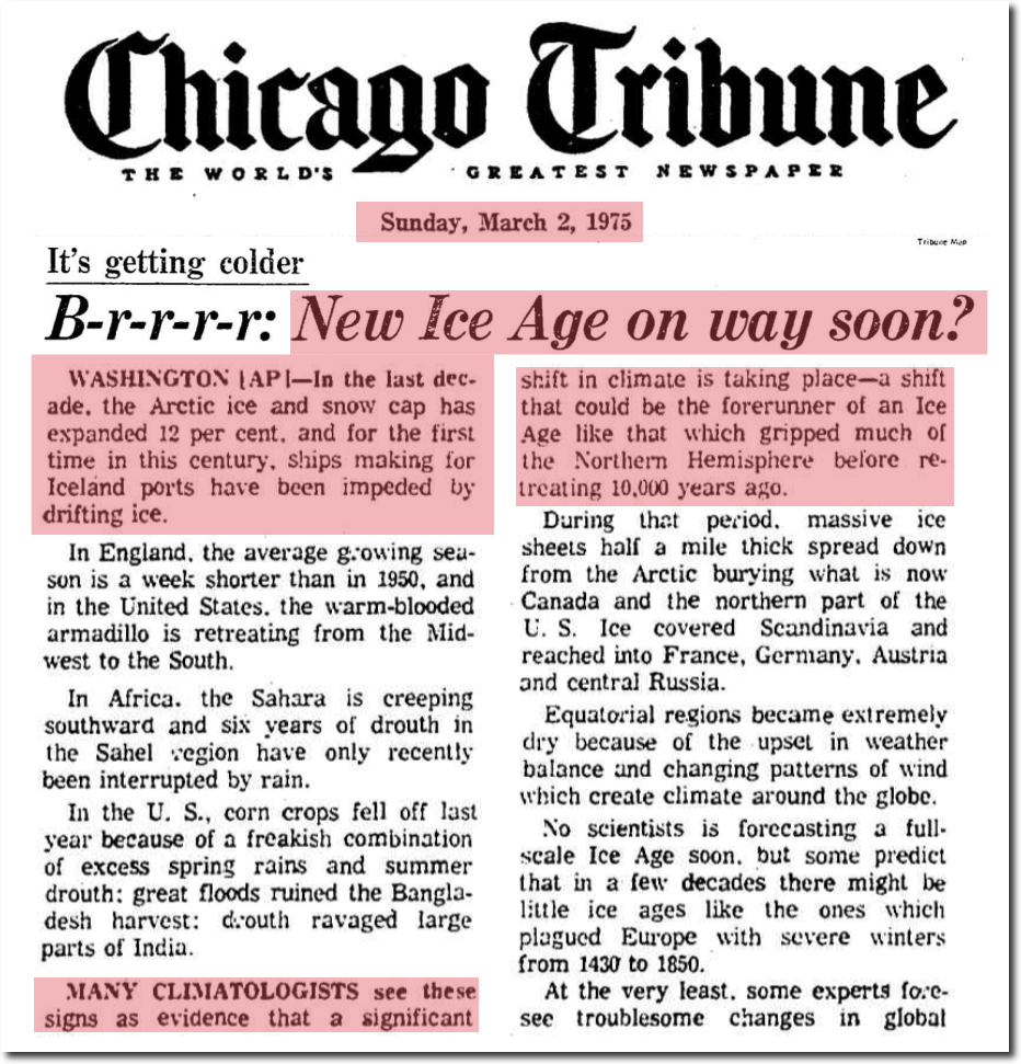 1970's Global Cooling Scare | The Deplorable Climate Science Blog