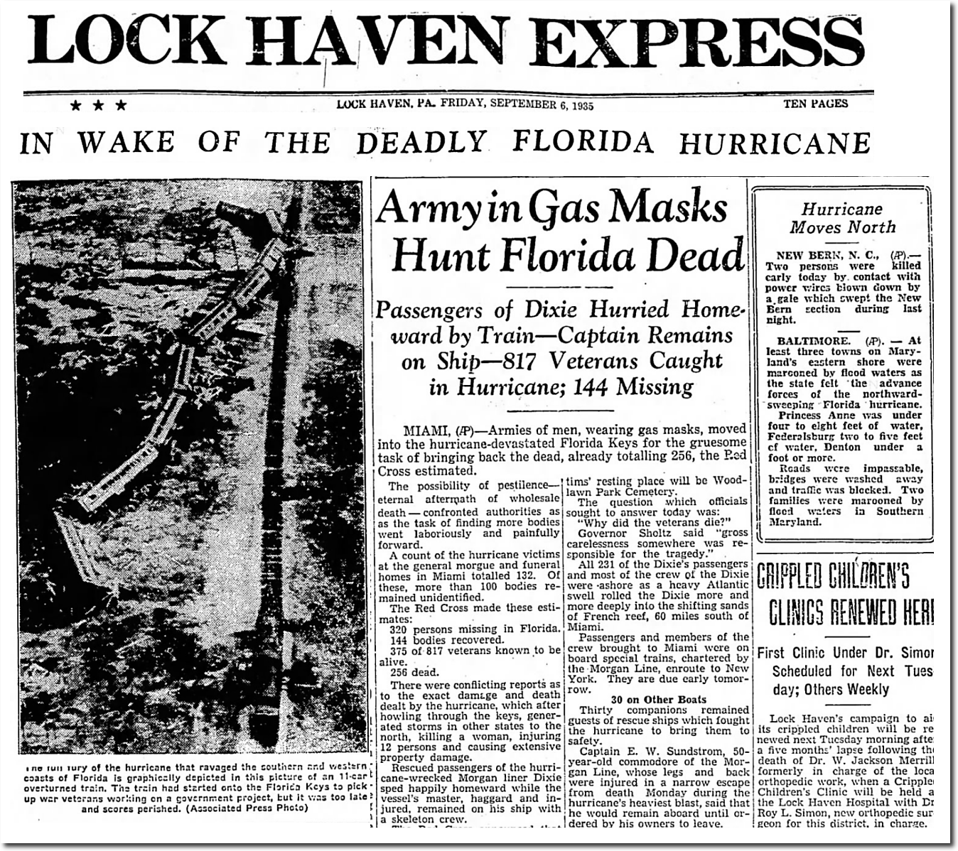 Labor Day 1935 Most Intense Us Hurricane The Deplorable Climate