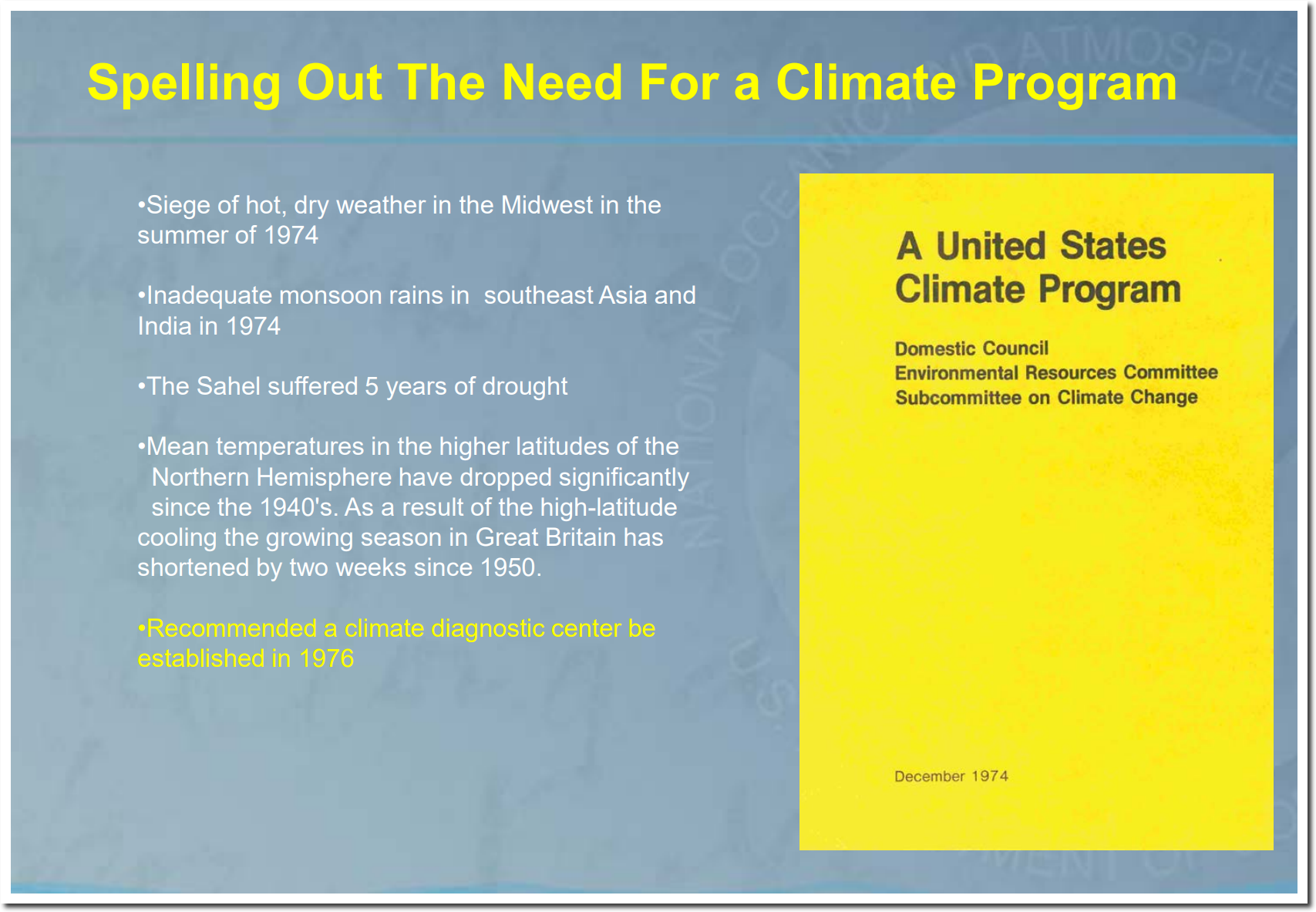 """The History Of The Modern """"Climate Change"""" Scam 