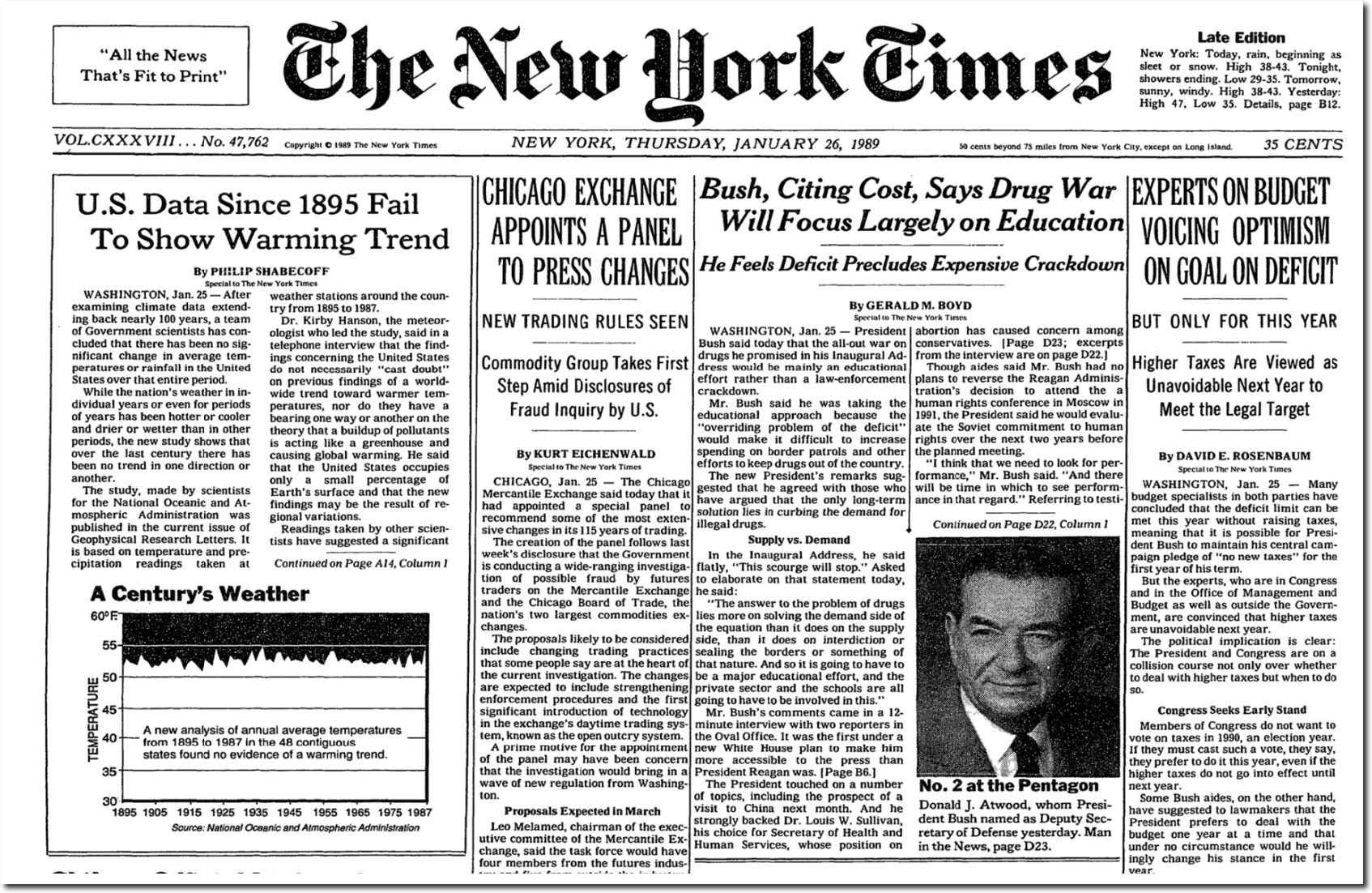 2018 NYT contradicts their own 1980s climate reporting! Analysis: 'A spectacular amount of lies packed into New York Times climate article'