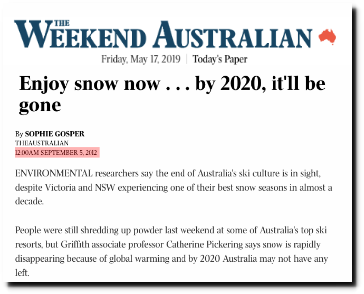 Best Paper Shredder 2020 Six Months Until The End Of Snow In Australia | The Deplorable