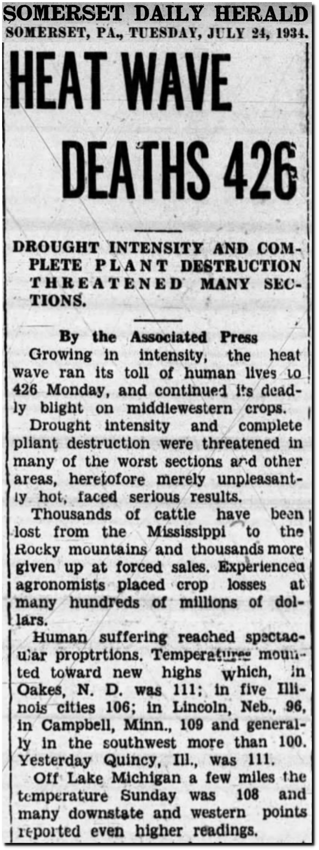 Heat Index In 1934 | The Deplorable Climate Science Blog