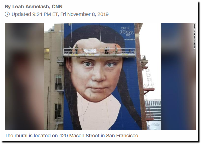 Greta Thunberg is getting a huge mural in downtown San Francisco – CNN
